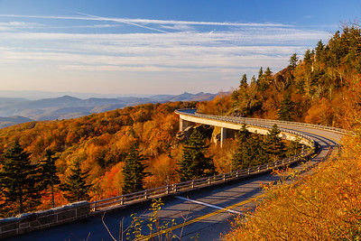 The Linn Cove Viaduct is a highlight of the Blue Ride Parkway