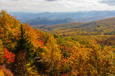 Autumn views along the Blue Ridge Parkway