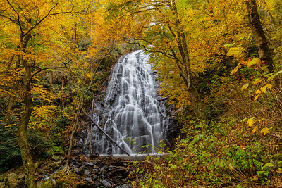 Crabtree Falls on a golden Autumn day