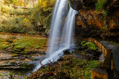 Dry Falls, in the Pisgah National Forest