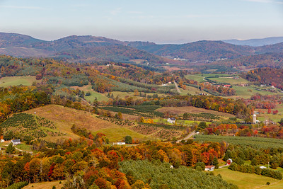 A typical rural view along the Blue Ridge Parkway Autumn (photo by Kerry Brooks)