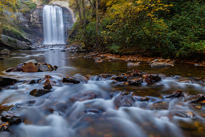 Looking Glass Falls, in the Pisgah National Forest