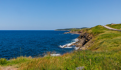 Ocean scenery along the Cabot Trail