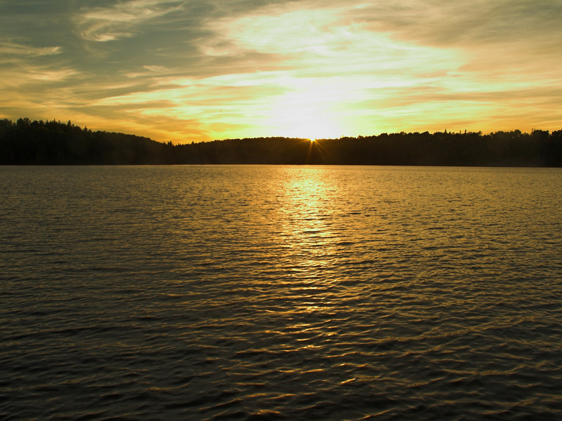 Sunset over Tom Thompson Lake, Algonquin Provincial Park
