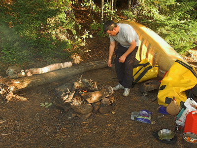 Time to start cooking, Algonquin Provincial Park