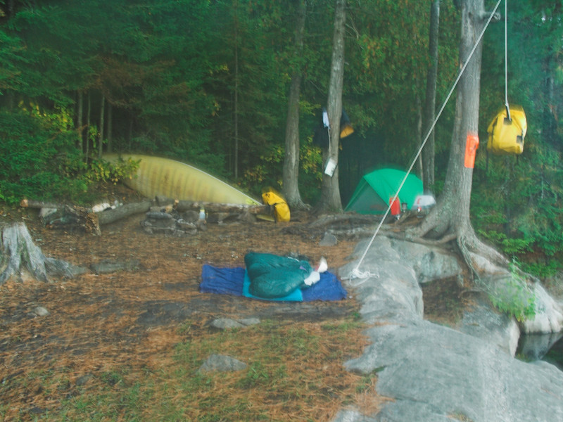 Camping on Tom Thompson Lake, Algonquin Provincial Park