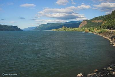 The Columbia River Gorge as seen from Interstate 85