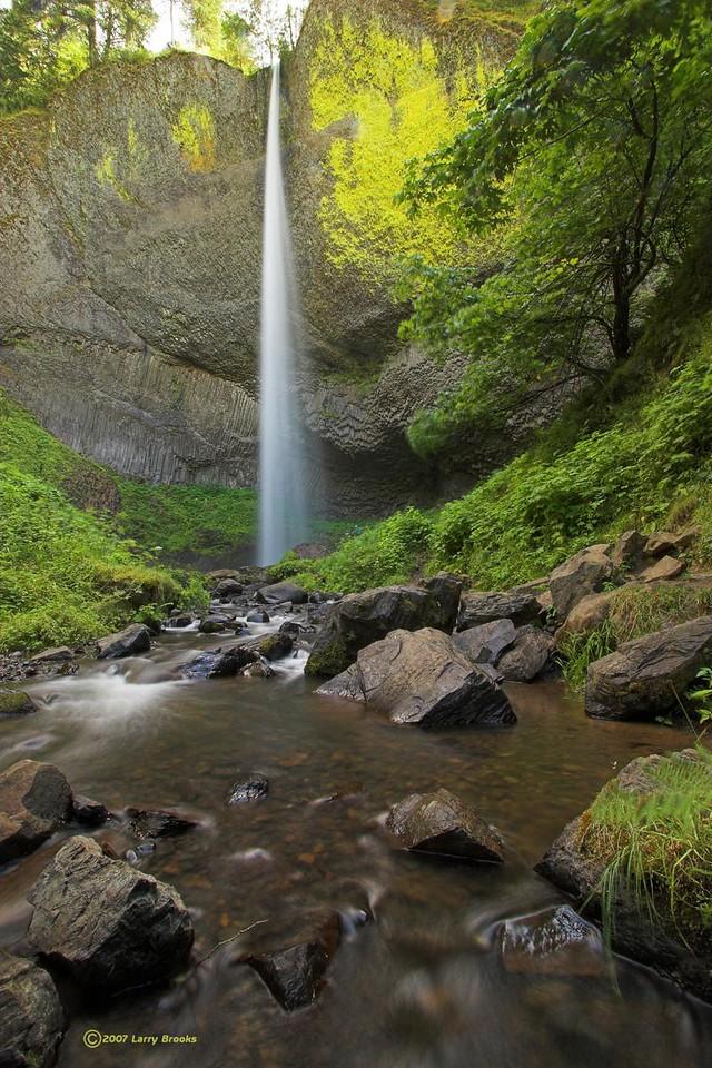 Latourell Falls in the Columbia River Gorge National Scenic Area
