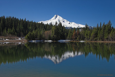 Mt. Hood reflects on a calm pond