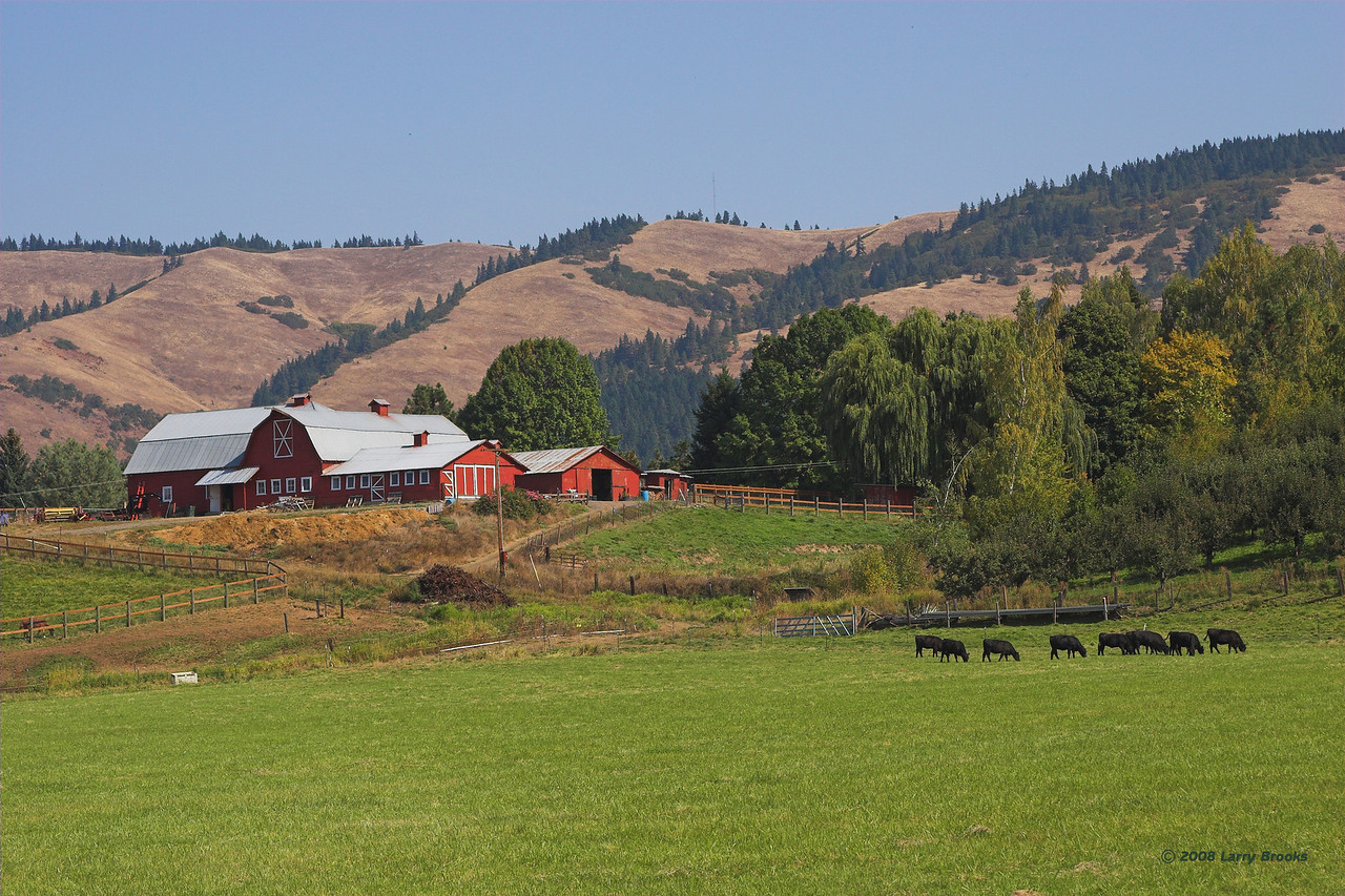 A picturesque ranch east of Mt Hood