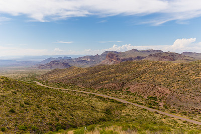 A grand view from Sotol Vista, along the Ross Maxwell Scenic Drive, in Big Bend National Park