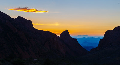 Sunset through The Window of Chisos Basin in Big Bend National Park