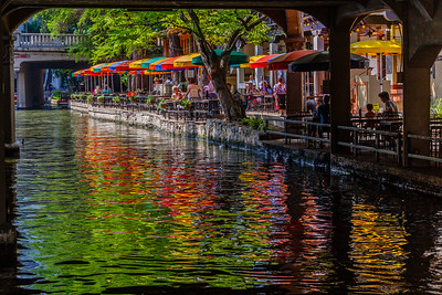 Typical scene from the San Antonio River Walk