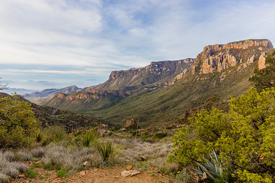 Mountain vistas from the Lost Mine Trail in Big Bend National Park