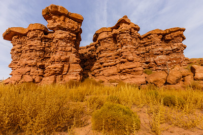 Fascinating rock formations at Recapture Pocket
