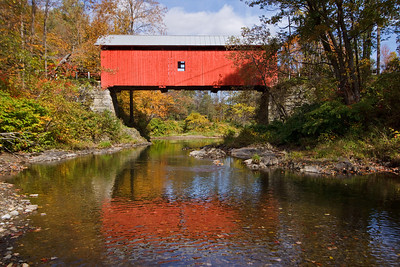 Slaughter House covered bridge near Northfield, built in 1872