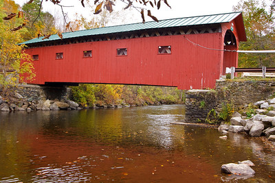 West Arlington covered bridge, built in 1872