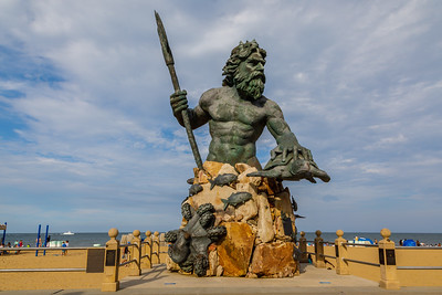 King Neptune keeps guard over Virginia Beach