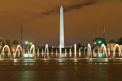 World War II Memorial and the Washington Monument