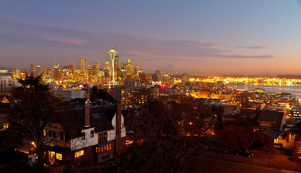 Seattle skyline view from Kerry Park, atop Queen Anne Hill
