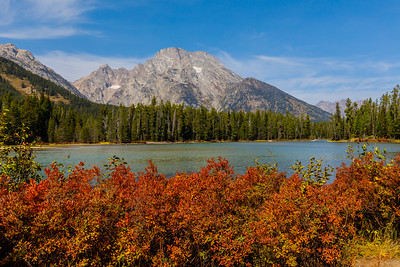 The view across String Lake in Autumn - Grand Teton National Park