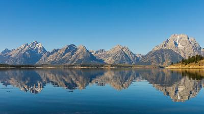 Jackson Lake reflections - Grand Teton National Park