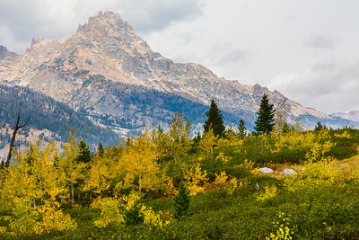 A typical Autumn view along the Taggart Lake Trail - Grand Teton National Park