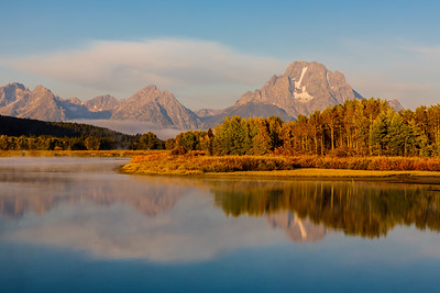 Mt Moran  towers over Oxbow Bend - Grand Teton National Park