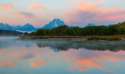 Sunrise at Oxbow Bend - Grand Teton National Park