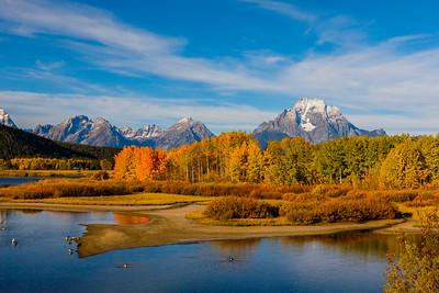 Autumn at Oxbow Bend - Grand Teton National Park