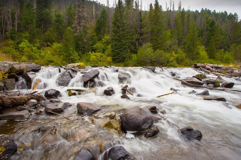 Small waterfall in Hyalite Creek. 7959