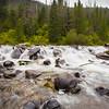 Small waterfall in Hyalite Creek.