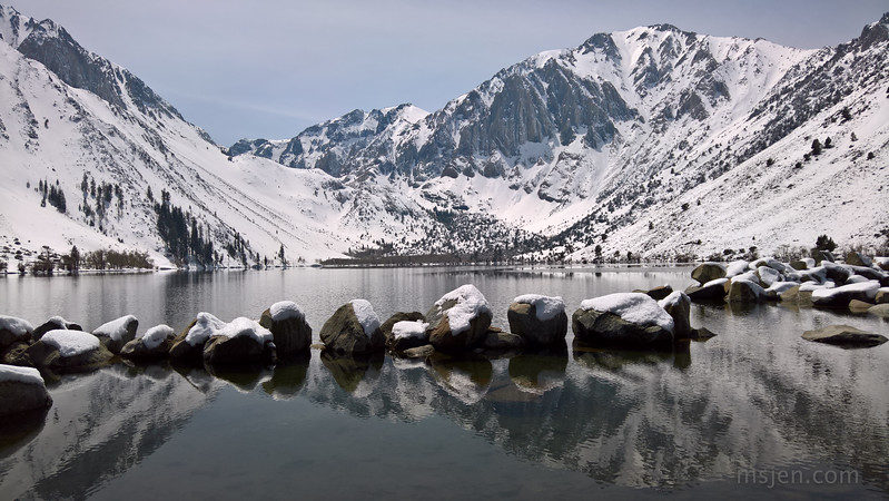 Convict Lake: Two Days after the April Snowstorm