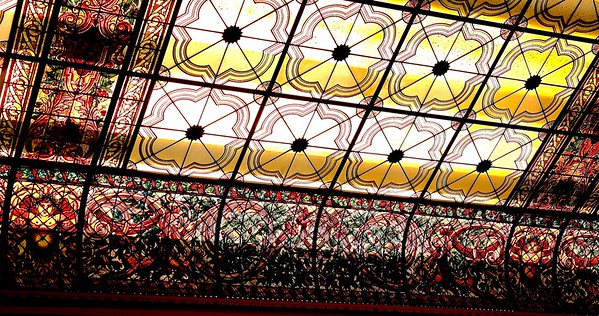 The Venetian Glass Ceiling of the Grand Foyer of Shadow Lawn
