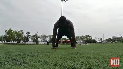 Plank Down Dog To Toe Tap
