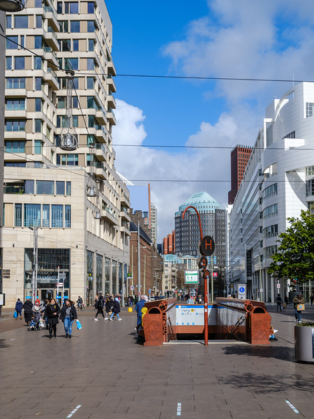 Buildings on the Kalvermarkt, The Hague.