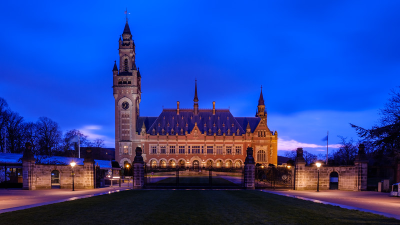 The Peace Palace at dusk - The Hague