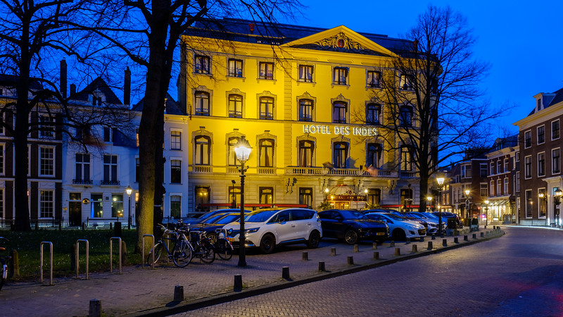 Hotel des Indes at dusk  - The Hague