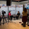 The 49th Union World Conference on Lung Health. 24-27 October 2018. The Hague, The Netherlands.  <br /> Copyright: Marcus Rose/The Union<br /> Photo shows: From around the conference. Dr. Paula I Fujiwara, Scientific Director The Union, being interviewed