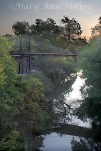 Historic Beveridge Bridge, San Saba, Texas - dawn
