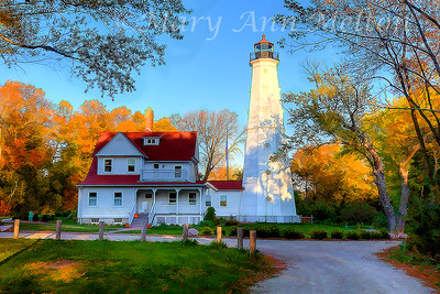 North Point Lighthouse, photography based art, Milwaukee, Wisconsin
