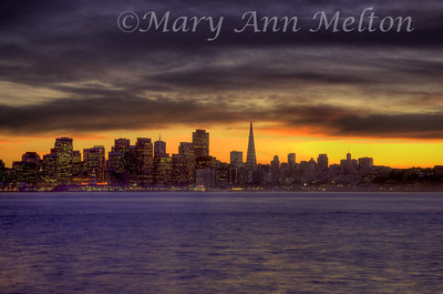 An HDR processed image of San Francisco