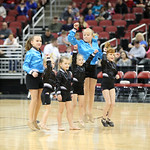 Members of the Frankfort School of Ballet performed prior to the start of the game.