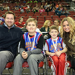 Mike and Jackson McDonner, Gus Soule and Bekah McDonner.