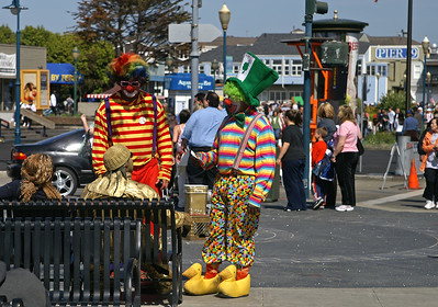 Colorful clowns.
