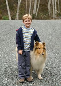 March 17, 2007 Ethan and Sheba at Grandma and Grandpa's house.