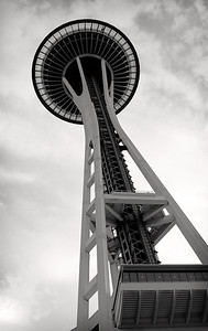 Evening view of the Space Needle.