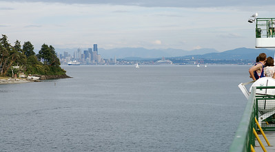 Looking across to downtown Seattle.