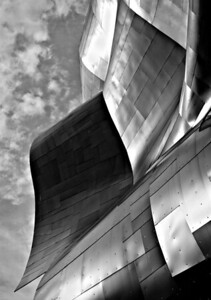 A section of the roof of the EMP / Sci-Fi Museum building.  That is one interesting structure!