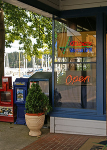 Sept 2, 2007  Doc's Marina Grill on Bainbridge Island.  We had a late lunch here before hopping the ferry to cross over to Seattle.